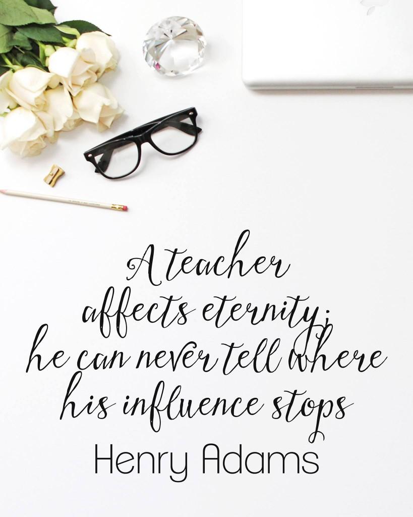 Free Printable Thank a Teacher Quote