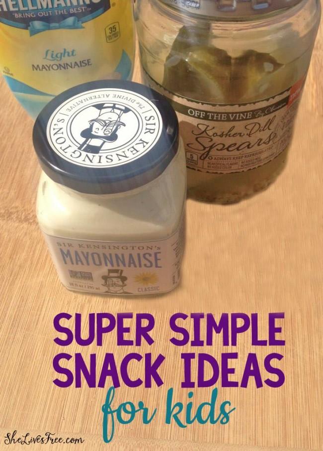 Super simple snack idea for kids