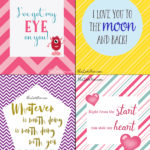 Love Themed Free Printable Notes for Valentine's Day